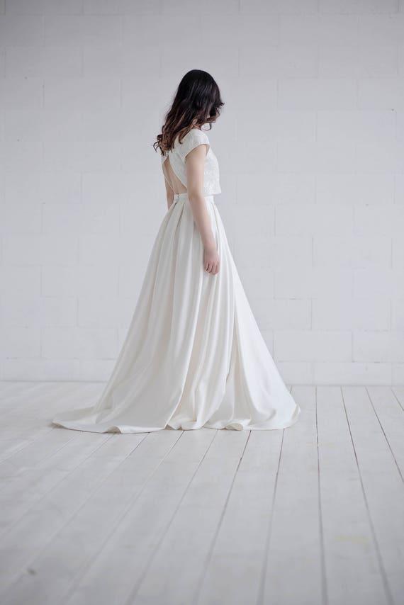 Aiko elegantes Brautkleid / Ernte oben Braut Brautkleid