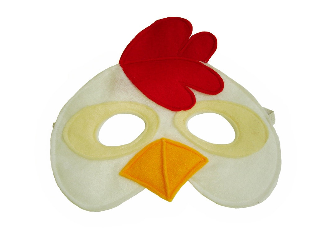 Childrens chicken farm animal felt mask zoom pronofoot35fo Gallery