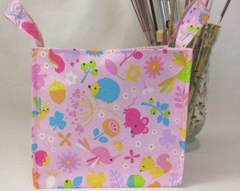 Medium Nest Basket with Organizer Pockets - Pinky