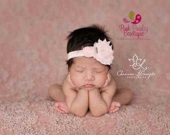 Baby headbands, infant headbands, Light Green Hairbows, Summer Headband, Baby Girl Bows, Baby Girl Headband, Baby Hair Accessories, Baby Bow