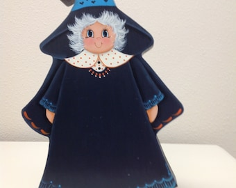 Rocking Witch - Tole Painting Pattern Packet - Whimsical witch