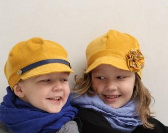 Boys newsboy hat Girls newsboy hat corduroy hat Ring bearer hat Newsboy Cap Photo prop Toddler newsboy hat