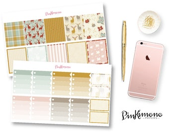"""Oh """"Deer"""" - It's Fall Weekly Planner Sticker Kit with Planner Clip 