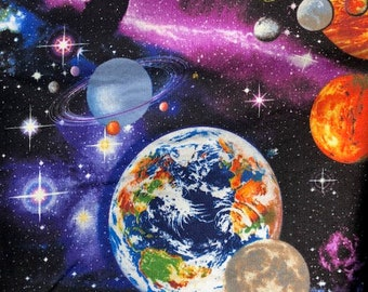 Multi Outer Space Mystic by Timeless Treasures Collection Quilt Fabric by the Half Yard