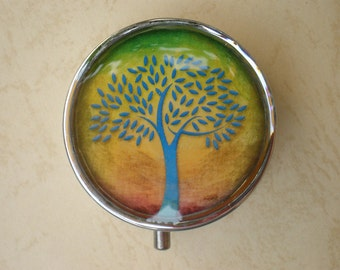 Pill box - Pill case -  Pill container - Jewelry box - Mint case - Tree