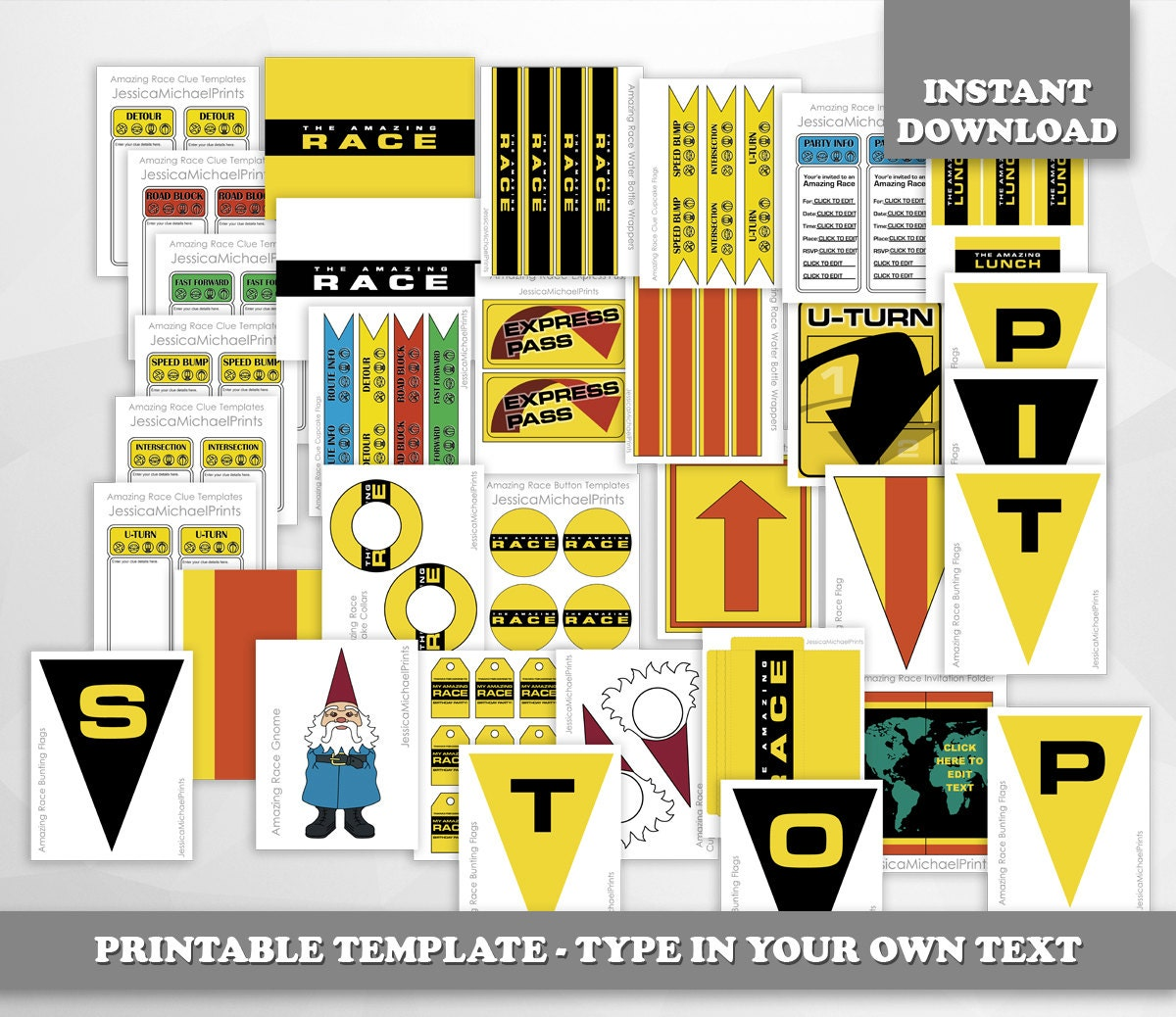 Amazing Race: LIMITED TIME The Amazing Race Party Printables DIGITAL