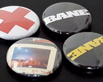 "4 Bane 1"" Buttons/Pinbacks/Badges Hardcore Punk Old School HXC SXE Straightedge Edge Give Blood Rare Retro Vintage"