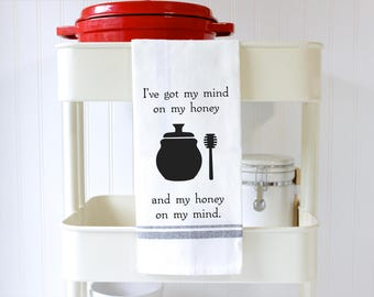 Funny Dish Towels - Kitchen Towels -  Funny Hand Towels - Tea Towels - Funny Food Puns  - Housewarming Gift - Birthday Gift - Honey Lover