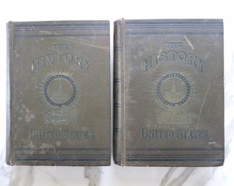 Lossing's New History of the United States 1789-1889, Volume I & II Set, Antique American Books, US History Book