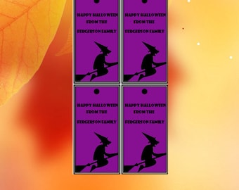 CLEARANCE, Halloween Treat Tags, Halloween Tags, Halloween Printable Tags, Editable Tags, Instant Download, Witch Tags, Halloweem Gift Tags