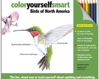 DOMINIC COUZENS - Color Yourself Smart: Birds of North America