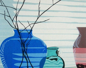 Still Life with Twigs, limited edition serigraph