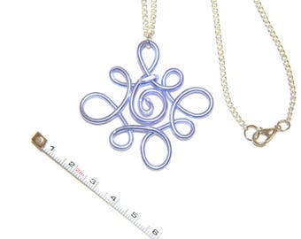 Handmade necklace with pendant pattern spring - aluminum-