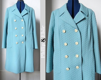 Ice Queen - 1960's Blue Coat - Large to XXL
