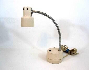 """Vintage Hamilton """"Tensor Style"""" Desk Lamp in Cream Color. Circa 1970's."""