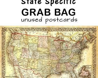 Grab Bag - State Specific unused Postcards