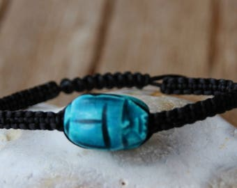 Egyptian bracelet with Pearl scarabeee