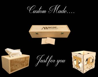 Custom Unfinished  Poplar Box- Custom listing for Jill Beyer