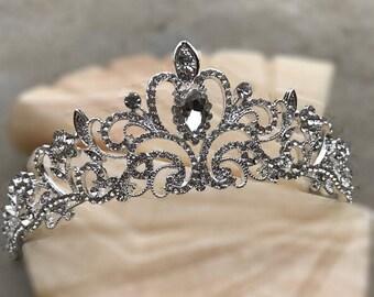Our MINERVA Tiara, Hair Accessories, Rhinestone Crown, Tiara, Vintage Crown, Pageant Crown, Crystal Crown