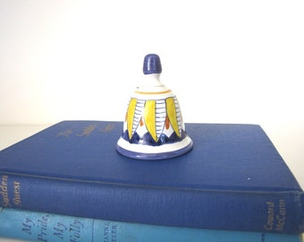 Vintage Mexican Pottery Bell Talavera Pottery Bell from AllieEtCie