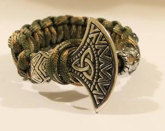 "Axe of Perun paracord bracelet ""Triskelion"""