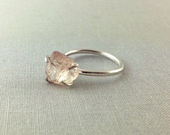 Catalina Ring - Topaz / California Collection // raw topaz ring, sterling silver ring, bohemian jewelry, raw gemstone ring, crystal ring