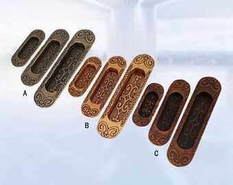 Sliding Door Pull Handles - European Style Cabinet Hardwares /Slot Type Dresser Handles /Embedded Drawer Pulls /Decor Metal Pulls   B077-2
