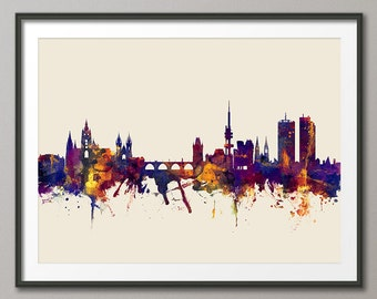 Prague Skyline, Prague (Praha) Czech Republic  Cityscape Art Print (2379)