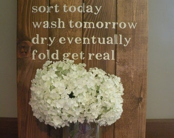 Laundry Room Schedule Wall Decor
