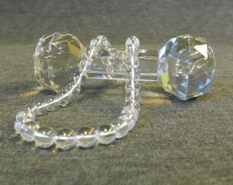 Great Strand of Clear Glass Crystal 8mm Round/ Ball Beads - 50 Beads Per Strand