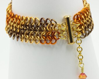 European 4 in 1 cuff chainmail chainmaille bracelet