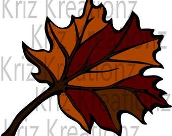 Fall Maple Leaf SVG Cut File