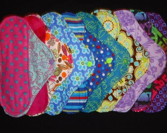 Set of Six (6) Custom Cloth Panty liners
