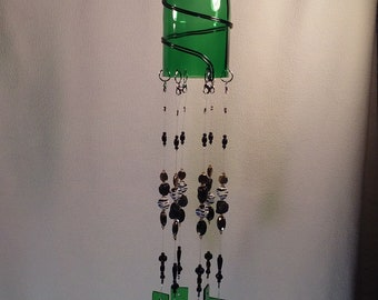 Beaded stained glass windchime.