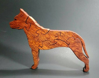 Red the Pit Bull wood puzzle
