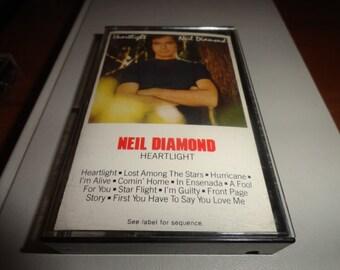 Neil Diamond vintage compact cassette tape-cassette tape-vintage tape- vintage gift- music lover gift--
