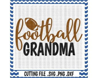 Football Svg, Football Grandma Cutting Files, Svg-Dxf-Png-Pdf, Cut Files For Silhouette Cameo & Cricut, Svg Download.