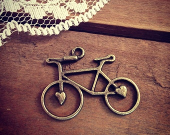 Bicycle Charms Antique Bronze Bicycle Vintage Jewelry Supplies Vintage Bicycle  (BA119)