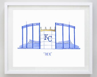 The K Kansas City Watercolor Print