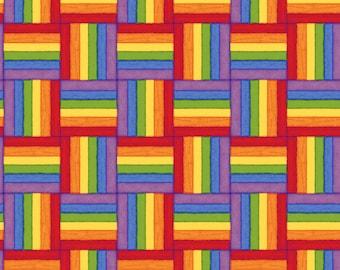 fabric fat quarters, quilting squares, cotton fabric, rainbow fabric, bright coloured fabric, kids fabrics