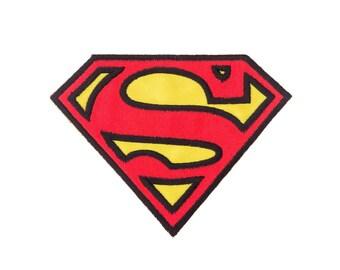 Superman Iron On Applique, Large Superman Iron On Patch, Genuine DC Comics Patch, Superman Applique, Superhero Applique, Kids Patch, 2.5x3.5