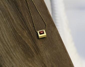 Gemstone Raindrop Necklace
