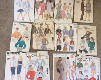 Rare Vintage 1980's Sewing Pattern Lot