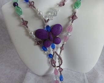 Butterfly Necklace:  Lariat