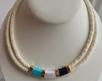 """17"""" cotton rope necklace"""