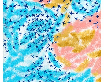 Birds and Feather Sky Print