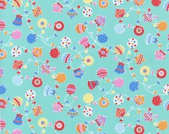Lecien Flower Sugar holiday 2016 collection - Aqua ornament toss