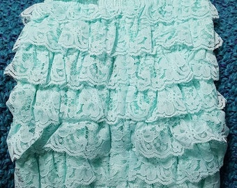 Lace Romper Teal Size Small