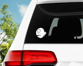 Death Star Decal / Star Wars Decal / Window Decals / Laptop Decals / Car Decals / Sticker / Vinyl Decal