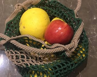 Crochet Market Bag, Handmade Market Bag, Crochet Shopping Bag